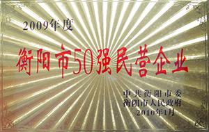 2010年度衡阳市50强民营企业(2009年).JPG