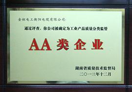 2013年工业产品质量分类监管AA类企业.jpg