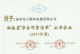 2018年度湖南省守合同重信用证书(2017年).jpg